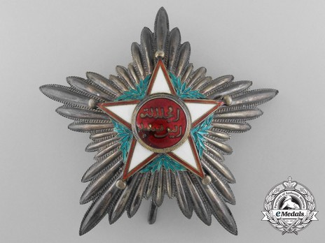 Order of Ouissan Alaouite, Type II, I Class Grand Officer Breast Star Obverse