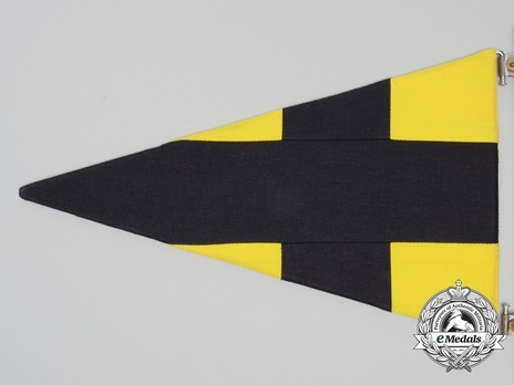 German Army Staff Flag for Battalions (Signals version) Reverse Detail