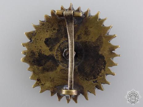 Order of the Supreme Sun (Nishan-i-Almar), Type II, II Class Breast Star Reverse