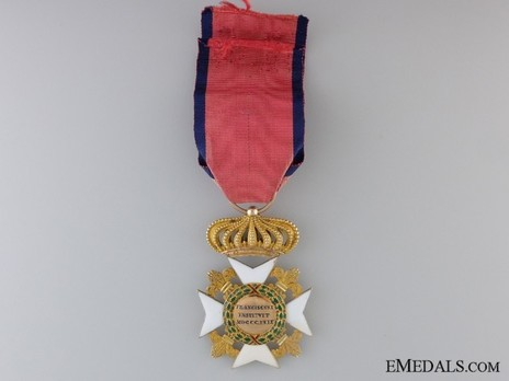Royal Order of Francis I, I Class Knight's Cross (in gold) Reverse