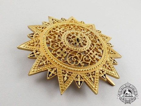Order of the Star of Ethiopia, Grand Cross Breast Star (in Bronze gilt) Obverse