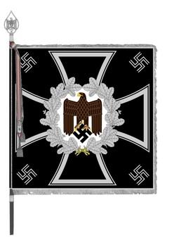 German Army General Army Unit Flag (Engineer Foot version) Obverse