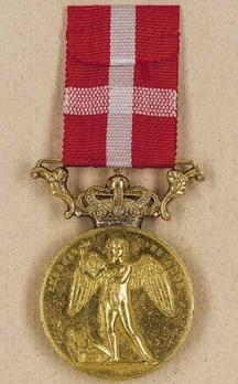 Medal Ingenio et Arti in Gold, Type II (with crown)