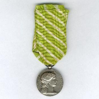 "Silver Medal (stamped ""DANIEL DUPUIS"") Obverse"