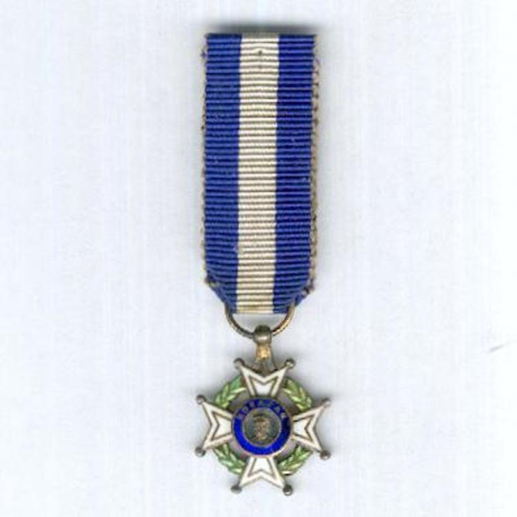 Miniature silver gilt enamelled knight o