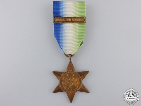 """Bronze Star (with """"FRANCE AND GERMANY"""" clasp) Obverse"""