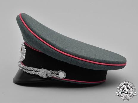 German Army Armoured Officer's Visor Cap Left Side