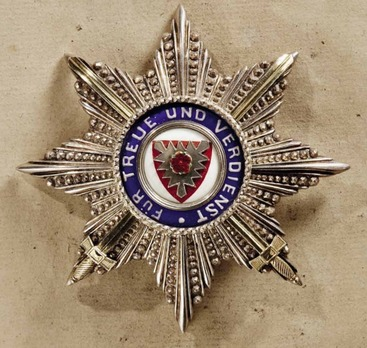 Princely House Order of Schaumburg-Lippe, I Class Breast Star with Swords