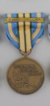 Outstanding Volunteer Service Medal Reverse