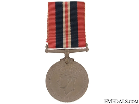 Silver Medal (with cupro-nickel, named) Obverse