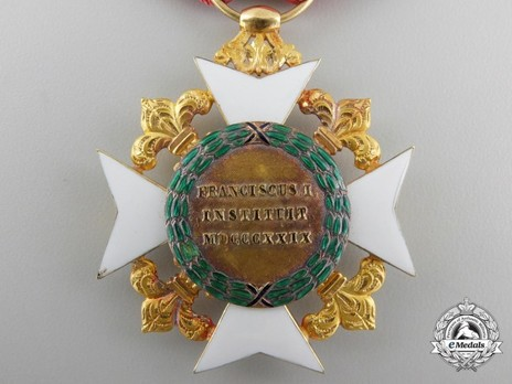 Royal Order of Francis I,  II Class Knight's Cross Reverse