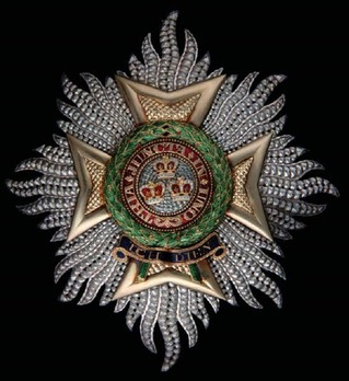The Most Honourable Order of the Bath, Type II, Military Division, Grand Cross Breast Star