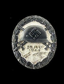 "Wound Badge ""20 July 1944"", in Black Obverse"