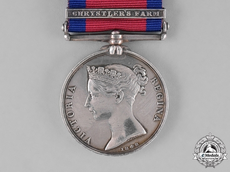 """Military General Service Medal (with """"CHRYSTLER'S FARM"""" clasp)"""