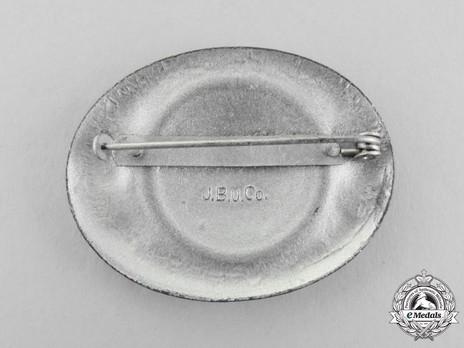 RADwJ Tradition Badge (in silvered feinzinc) Reverse