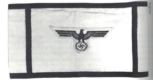 Kriegsmarine Deputy Air Protection Leader Armband Obverse