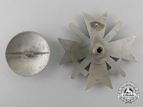 War Merit Cross I Class with Swords, by C. E. Juncker (L/12, tombac, screwback) Reverse