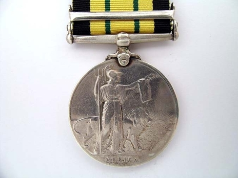 """Silver Medal (with """"NANDI 1905-06"""" clasp) Reverse"""