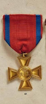 Cross for 25 Years of Military Service, in Gold (in bronze gilt)