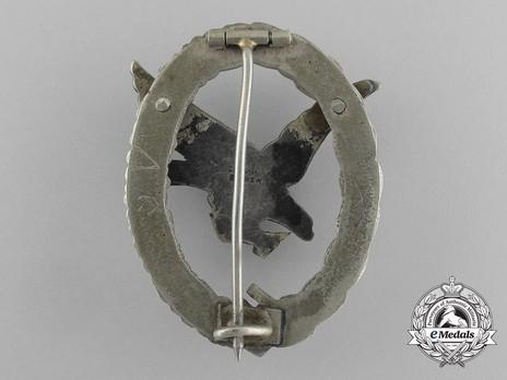 Air Gunner & Flight Engineer Badge, by C. E. Juncker (in tombac) Reverse