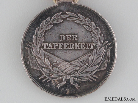 Type V, II Class Silver Medal (with left facing profile) Reverse