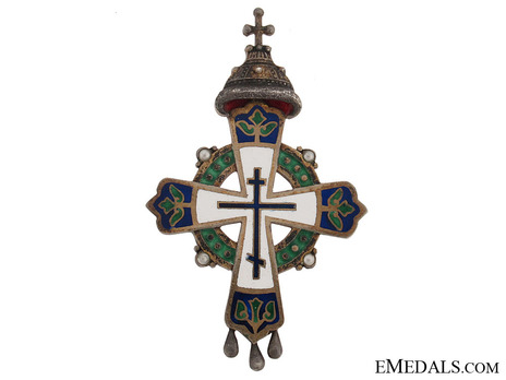 Clergy For the Tercentenary of the Romanov Dynasty Gold Cross Obverse