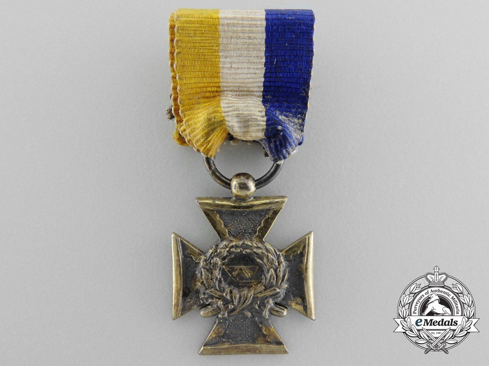 Miniature cross for 15 years obverse
