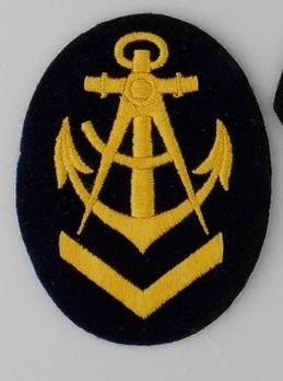 Kriegsmarine Obermaat Carpenter Insignia (embroidered) Obverse