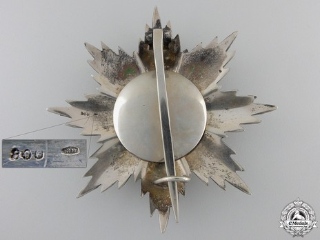 Military Order of Savoy, Type II, Grand Officer Breast Star (in silver) Reverse