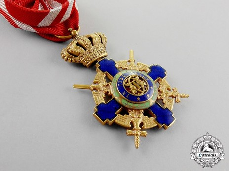 The Order of the Star of Romania, Type II, Military Division, Officer's Cross Obverse