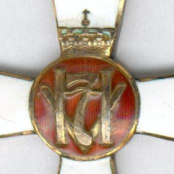 "King Haakon VII Freedom Cross (stamped ""J. TROSTRUP OSLO"") Obverse"