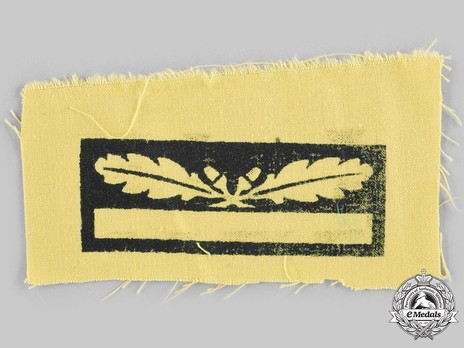 German Army Generalmajor Sleeve Grade Insignia Reverse