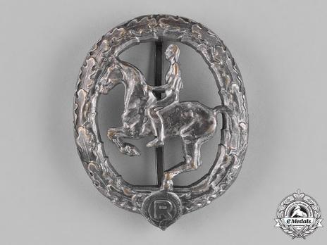 German Horseman's Badge, in Silver Obverse