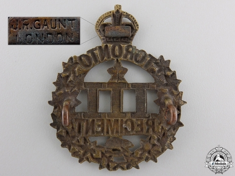 3rd Infantry Battalion Other Ranks Cap Badge (Separate) Reverse
