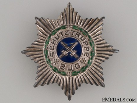 Star of the Schutztruppe Bug (screwback) Obverse