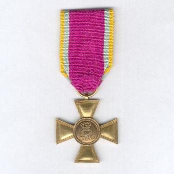 Gold Cross for 25 Years (Bronze gilt) Obverse
