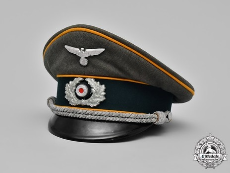 German Army Cavalry Officer's Visor Cap Profile