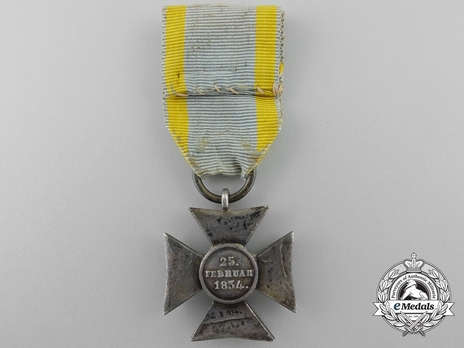 Silver Cross for 10 Years Reverse