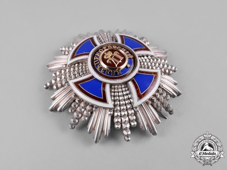 Order of Danilo I (Merit for the Independence), Type IV, II Class, Grand Officer Breast Star Obverse
