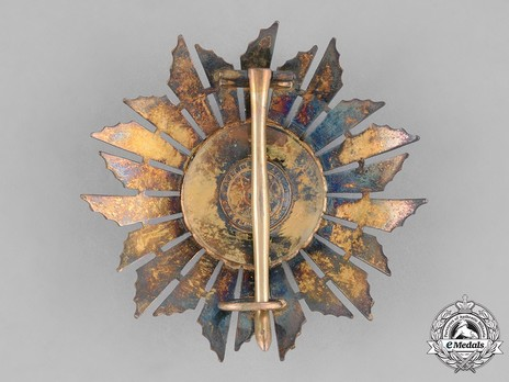 Grand Officer Breast Star Reverse