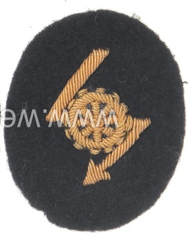 Kriegsmarine Officer's Technical Communications Insignia Obverse