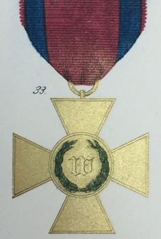 Long Service Decoration, Type II, I Class Cross (in bronze gilt, 1850-1864) Obverse