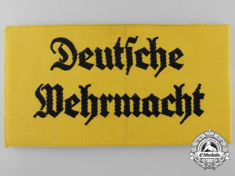 German Army Civilian Member of the Armed Forces Armband Obverse