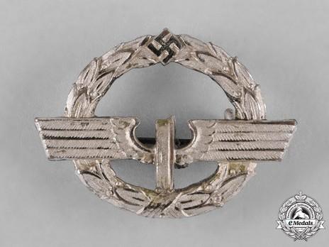 German Female Railway Staff Service Badge, in Silver Obverse