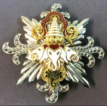 Order of a Million Elephants and the White Parasol, Grand Cordon Breast Star