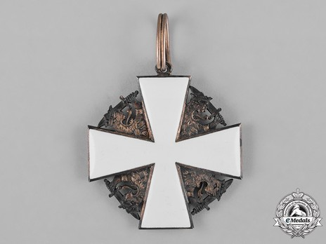 Order of the White Rose, Type II, Civil Division, I Class Commander Cross Reverse