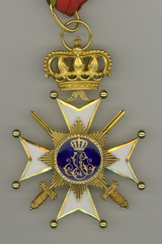 Princely House Order of Schaumburg-Lippe, I Class Cross with Swords (in gold) Reverse