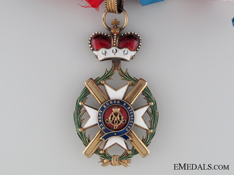 Order of the Cross of Takovo, Civil Division, II Class Obverse