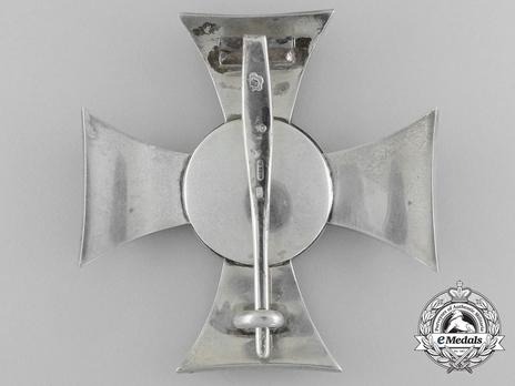 Military Merit Cross, Type II, Civil Division, I Class Cross Reverse