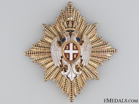 Order of the White Eagle, Type I, Civil Division, II Class Breast Star Obverse